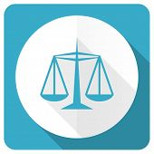 pic of judiciary  - justice blue flat icon law sign  - JPG