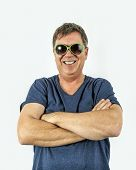 pic of rap  - smart man performs a cool rap dance with green sunglasses - JPG