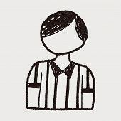 stock photo of referee  - Referee Doodle - JPG