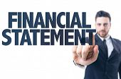 stock photo of statements  - Business man pointing the text - JPG