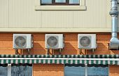 stock photo of ventilator  - Air conditioning and ventilation systems with pipe - JPG