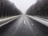 pic of icy road  - Snow - JPG