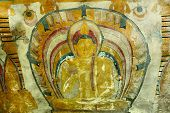 pic of cave  - Insides of caves in ancient Buddhist complex in Dambulla cave temple - JPG