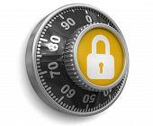 picture of combination lock  - Combination Lock - JPG