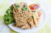 picture of catfish  - crispy catfish spicy salad and sweet sauce Thai food - JPG