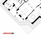 stock photo of architecture  - Architectural drawing of a private house - JPG