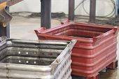 picture of raw materials  - Boxe for compact storage of various materials and raw materials in industrial shop - JPG