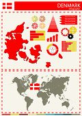 foto of nationalism  - vector Denmark illustration country nation national culture - JPG