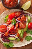 foto of kidney beans  - vegan taco with vegetable - JPG