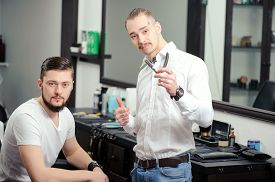 picture of barber razor  - Best service - JPG