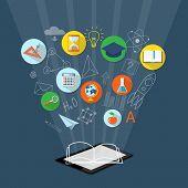 Постер, плакат: Banner For On Line Education E book