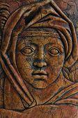 Impresión de la antigua mujer Medieval