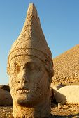 Heads of the colossal statues on Mount Nemrut in Turkey