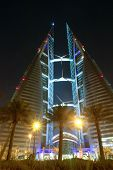 World trade center - Bahrain - Night scene