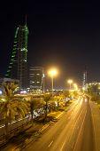 Manama Bahrain cityscape - night scene