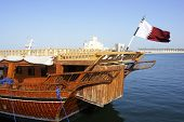 A dhow in doha Qatar
