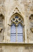 Gothic Window, House At The Bell (U Zvonu), Old Town, Square, Prague, Czech Republic poster