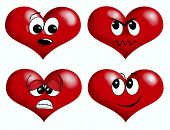 illustration of valentine heart emotion icons