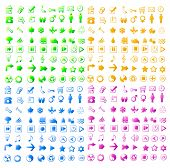 vector illustration of assorted colorful web icons