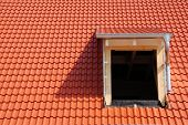 New roof with tiles and dormer window