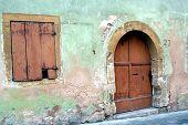 Ancient Home In Rothenburg Ob Der Tauber, Germany