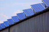 Solar energy panels on a rural barn