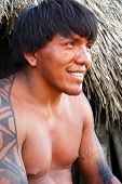 KAMAYURA VILLAGE, BRAZIL - MAY 18: The Kamayura is a threatened Indian tribe of under 400 people. A
