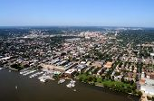 stock photo of freemasons  - Aerial of downtown Alexandria - JPG