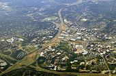 Aerial view of Tysons Corner, McLean, the commercial center of Northern Virginia in Fairfax County,