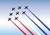 Illustration of jets flying in formation. Available as either vector or .jpg
