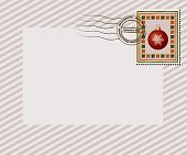 A vintage style Christmas stamp with
