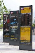 STRATFORD UPON AVON, UK - APRIL 15: Advertising posters for the Royal Shakespeare Company at the Royal Shakespeare Theatre. The 50th Anniversary season opens this month in Stratford. 15 April 2011
