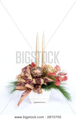Постер, плакат: Рождественские украшения стола, холст на подрамнике