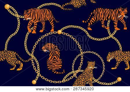 Seamless Vector Pattern With Animals