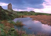 Smailholm Tower, Scpttish Borders at Sunrise