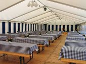 Inside A Party Tent