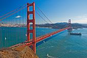 image of golden gate bridge  - golden gate bridge view - JPG