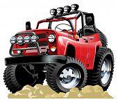 Vector cartoon 4x4 vehicle one-click repaint