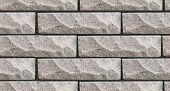 Stone Wall Pattern, Seamless Brick Texture. Wall Made Of Natural Stone Bricks. 3d Seamless Wall Text poster
