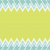 Card With Triangular Frame. Seamless Geometric Pattern. Leaflet With Seamless Abstract Triangle Geom poster