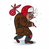 Homeless Beggar Hobo Santa