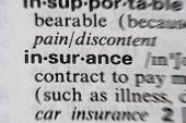 picture of pronunciation  - Word insurance from a dictionary  - JPG