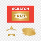 Template Cards With Scratch And Win Letters. Lottery Scratch And Win Game Card Background. poster