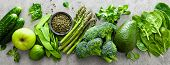 Healthy Vegetarian Food Concept Background, Fresh Green Food Selection For Detox Diet, Raw Broccoli, poster