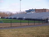 Empty Outdoor High School Football Stadium