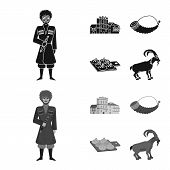 Vector Design Of Culture And Sightseeing Symbol. Collection Of Culture And Originality Stock Symbol  poster