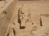 image of aswan dam  - Statues of Ramses at Abu Simbel Temple Egypt - JPG