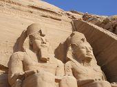 Abu Simbel Statues In Egypt