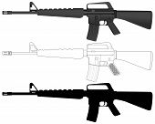 picture of m16  - M16 set on a white background - JPG
