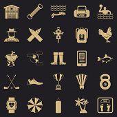 Underwater Adventure Icons Set. Simple Set Of 25 Underwater Adventure Icons For Web For Any Design poster